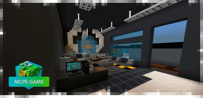 Карта Mira HQ из Among Us на Майнкрафт ПЕ