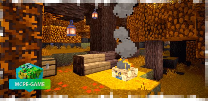 Осенний текстурпак на Майнкрафт ПЕ