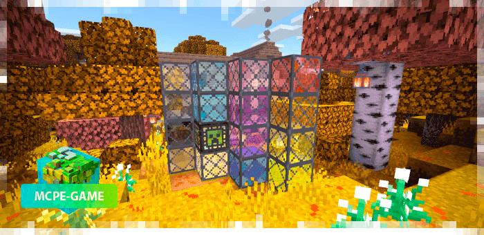 Окна из осеннего текстурпака на Майнкрафт ПЕ