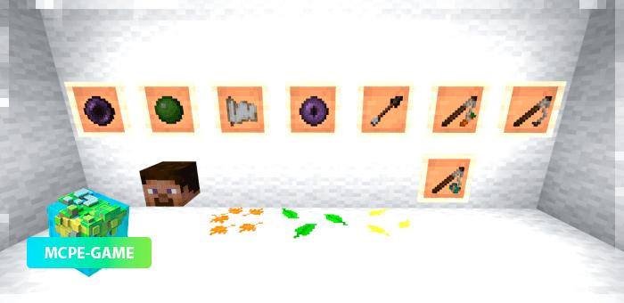 Предметы из осеннего текстурпака на Майнкрафт ПЕ