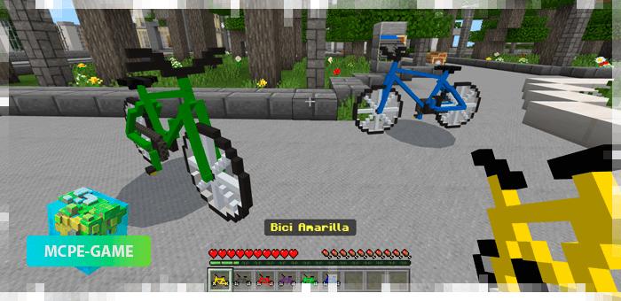 Мод на велосипеды для Майнкрафт ПЕ