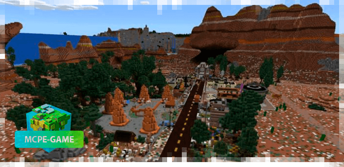 Radiator Springs is a map from the cartoon Cars