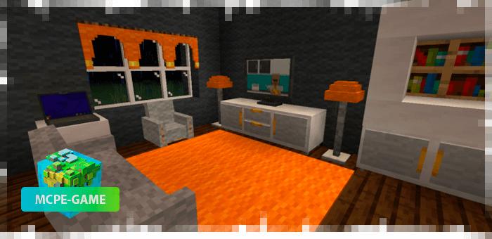Новая мебель на Майнкрафт ПЕ из обновления мода Flarx Furniture