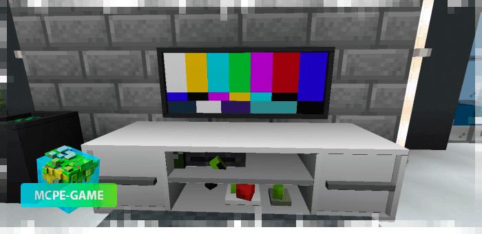 Телевизор из мода на мебель Loled Decoration на Майнкрафт ПЕ