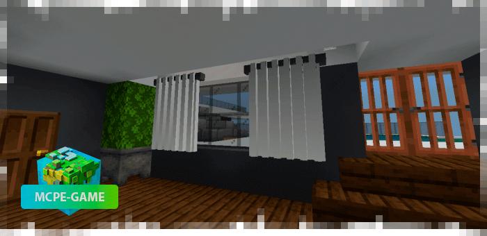 Занавески из мода на мебель Loled Decoration на Майнкрафт ПЕ