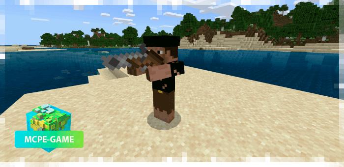 Пират с пороховым мушкетом