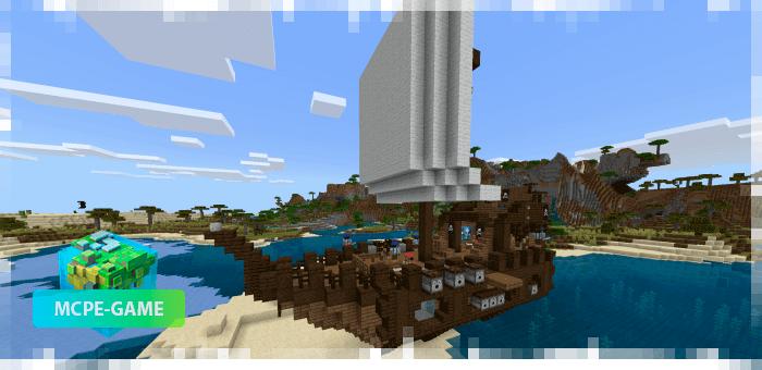 Пиратский корабль в Майнкрафт ПЕ