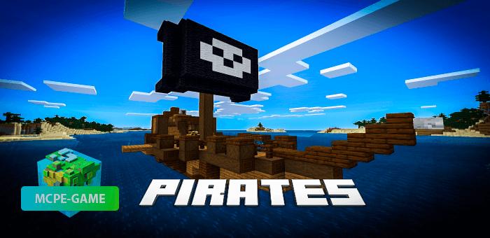 Pirates — Мод на пиратов с кораблями, оружием и сокровищами