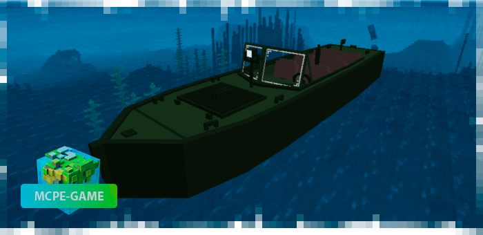 Лодка из PUBG на Майнкрафт ПЕ