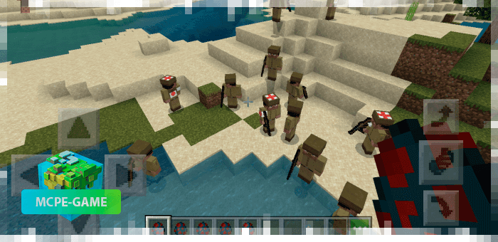 Солдаты из мода на войну на Майнкрафт ПЕ