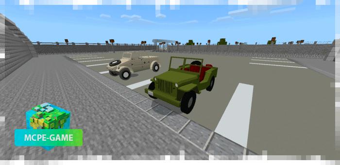 Военные автомобили в Майнкрафт ПЕ