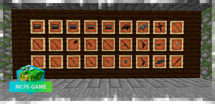 Firearms in Minecraft PE