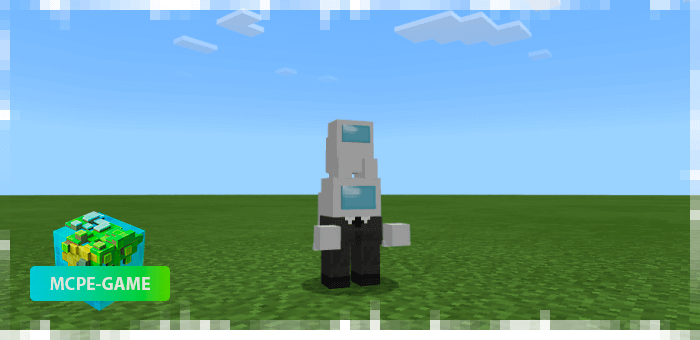 New 4D skins from Among Us mod for Minecraft PE