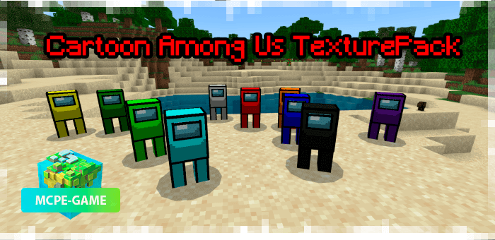Texturepack Among Us for Minecraft PE