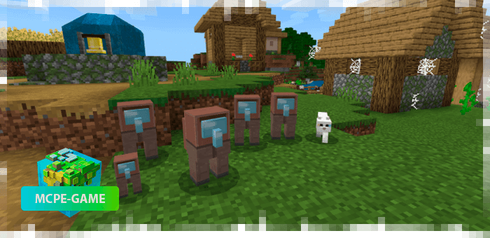 New pets from the Among Us mod for Minecraft PE