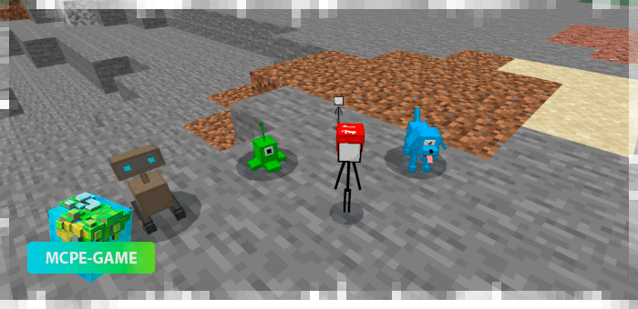 The pets from the Among Us mod