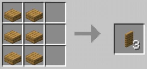Пример рецепта крафта скрытой двери из деревянных платформ