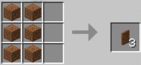 Пример рецепта крафта скрытой двери из земляных блоков