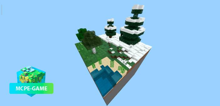 Cube World — Скайблок карта с биомами
