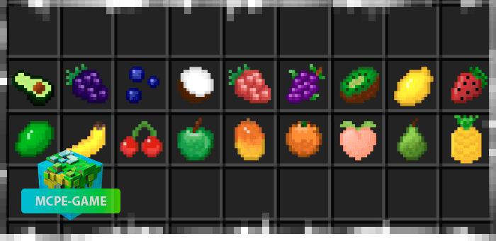 Новые фрукты и ягоды из мода Fruit Frenzy