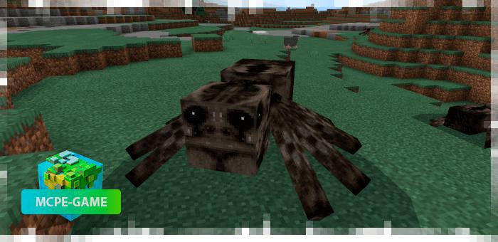 Огромный паук из мода на Хеллоуин на Майнкрафт ПЕ