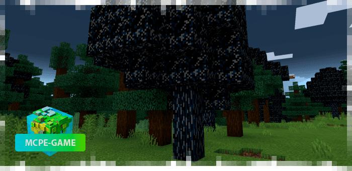 Новые деревья из мода на Хеллоуин на Майнкрафт ПЕ