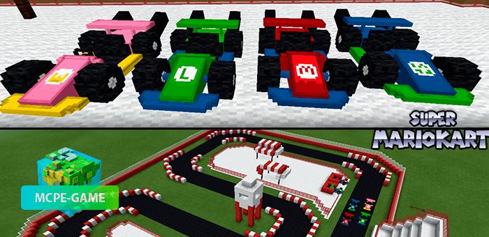 Mario Kart — Мод на гоночные карты из Марио