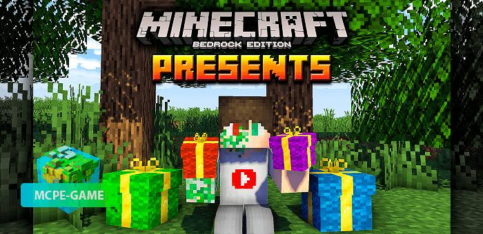 Presents — Мод на подарки в Майнкрафт ПЕ