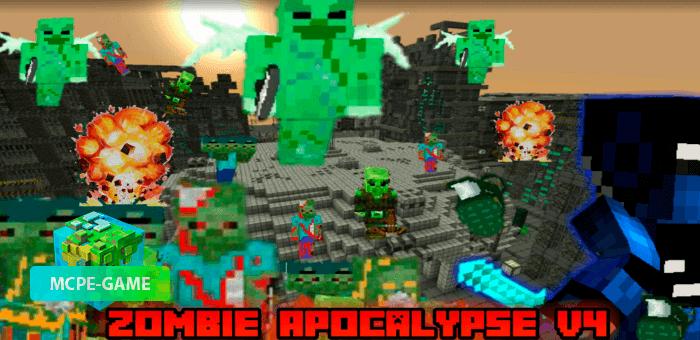 Мод на зомби апокалипсис в Майнкрафт ПЕ