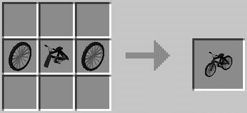 Рецепт крафта велосипеда в Майнкрафт ПЕ