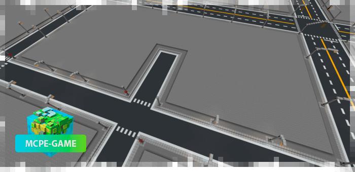 С-образные участки для постройки города в Майнкрафт ПЕ