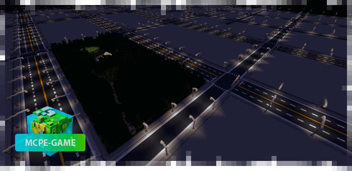 Вид на город ночью