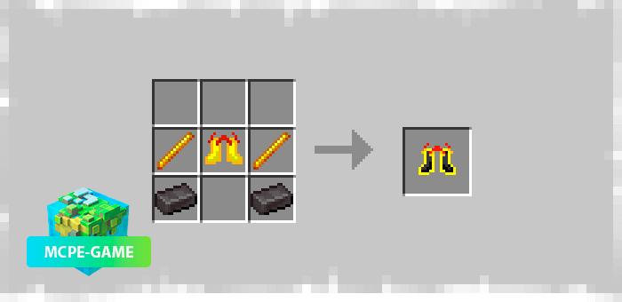 Рецепт крафта сапогов Инферно из мода Dash Boots