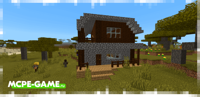 Buildings and buildings from the Human Addon mod for Minecraft
