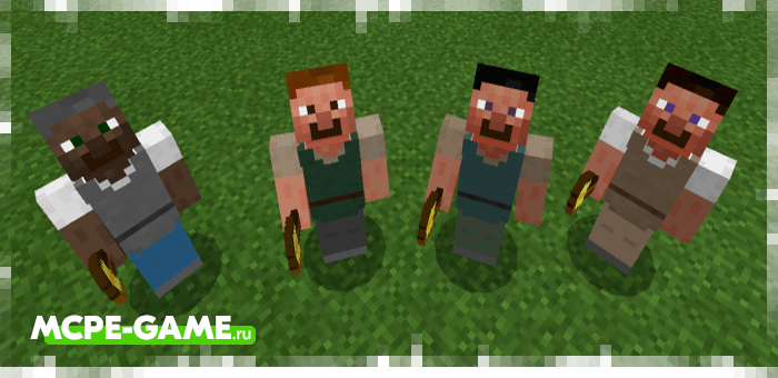 A bricklayer from the Human Addon mod for Minecraft