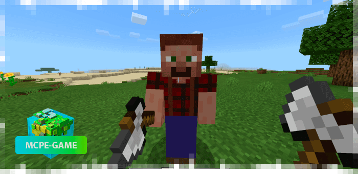 Lumberjack from the Human Addon mod for Minecraft PE