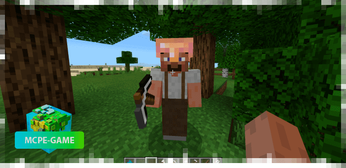 Miner from the Human Addon mod for Minecraft PE