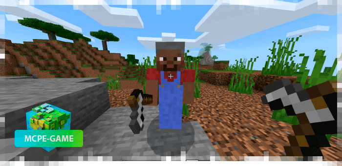 Farmer from the Human Addon mod for Minecraft PE