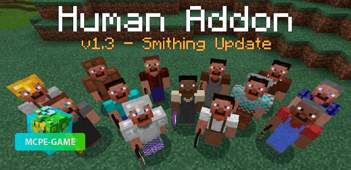 Human Addon — Мод на людей с профессиями