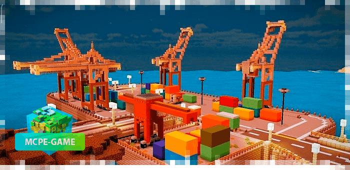 Порт города Кресги в Майнкрафт ПЕ