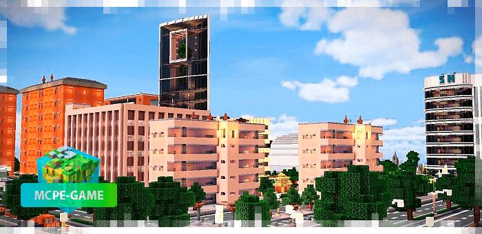 Жилые районы города Кресги в Майнкрафт ПЕ