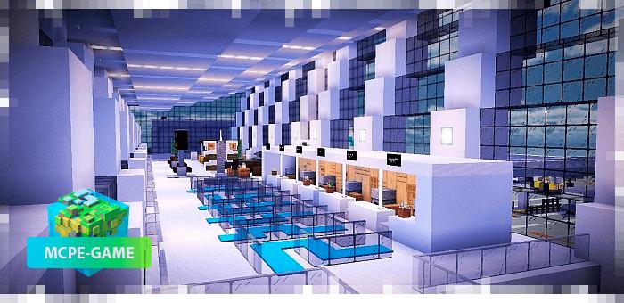 Аэропорт города Кресги в Майнкрафт ПЕ