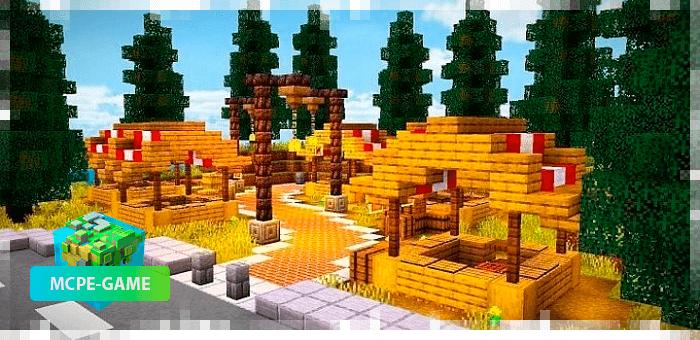 Рынок фермеров города Кресги в Майнкрафт ПЕ