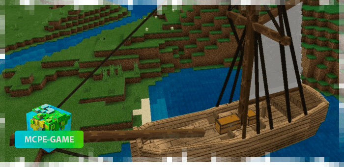 Large sailboat in Minecraft PE