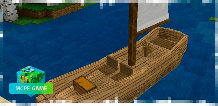 Small Sailboat in Minecraft PE