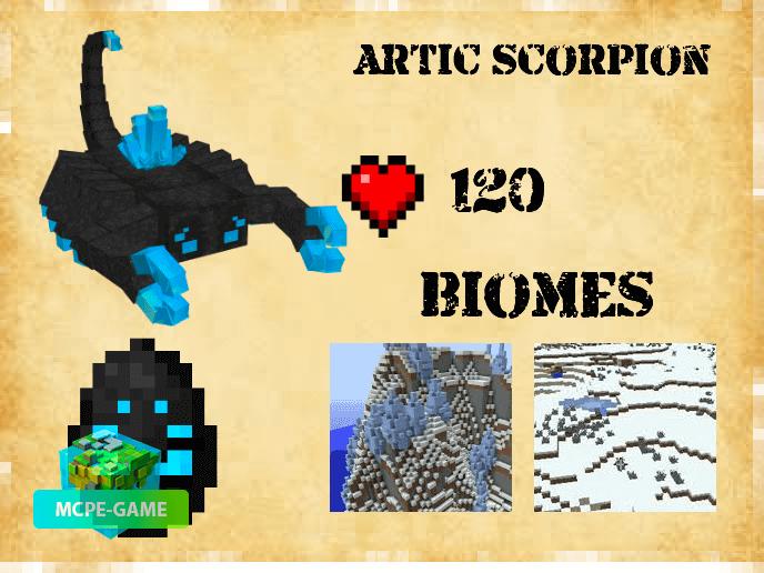 Ледяной скорпион из мода Карманная Мифология на Майнкрафт ПЕ