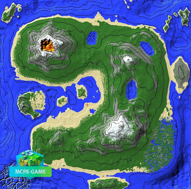 Тропический Остров вид сверху