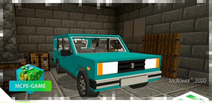 Автомобиль ВАЗ 2104 в Майнкрафт ПЕ