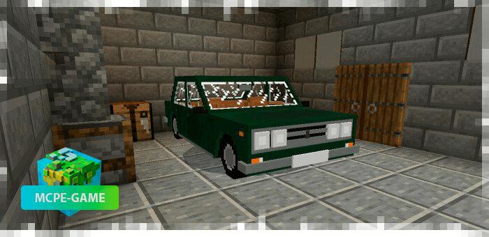ВАЗ 2106 на Майнкрафт ПЕ в зеленом цвете