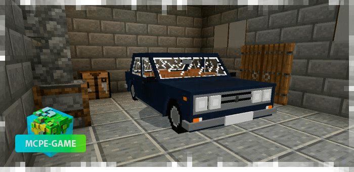 ВАЗ 2106 на Майнкрафт ПЕ в синем цвете